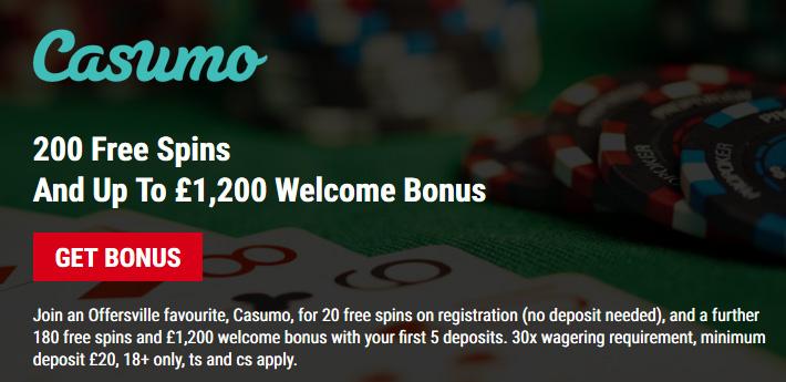 Casumo - Mobile Casinos From Offersville