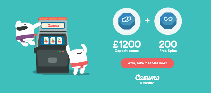 Casumo - 20 FREE Spins - NO DEPOSIT NEEDED