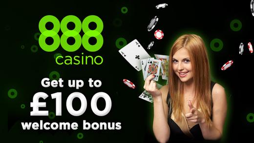 888 Casino - up to £100 welcome bonus