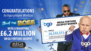 BGO Vegas Player Wins £6.2 million on Mega Fortune