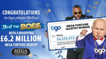BGO Vegas Player Wins £6.2 million on Mega Fortune