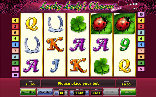 Lucky Lady's Charm Slot by Novomatic: Review, Bonus and Recommended Casinos