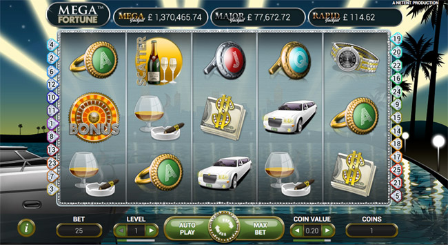 Mega Fortune Slots Progressive Jackpot