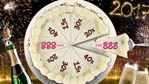 888 Casino New Year's Cake