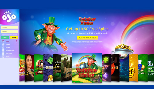 PlayOJO Casino - Free Spins on Rainbow Riches Slots