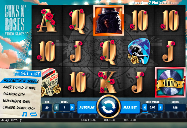 Guns n Roses Slots by NetEnt Review and Free Slots Bonus