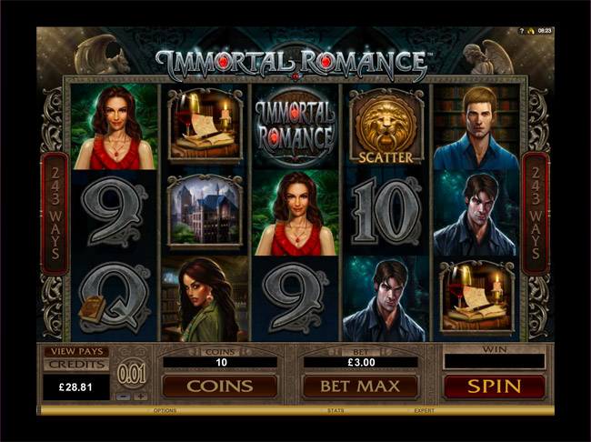 Immortal Romance Slot Review and Bonuses