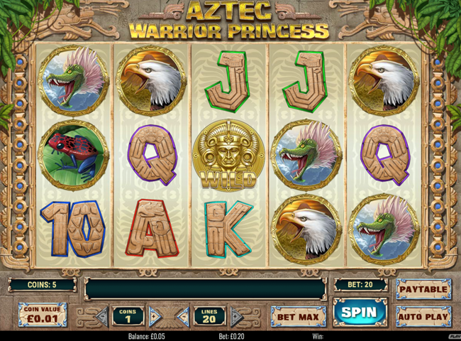 Aztec Warrior Princess Slot by Play n Go: Review, Bonuses and Recommended Casinos