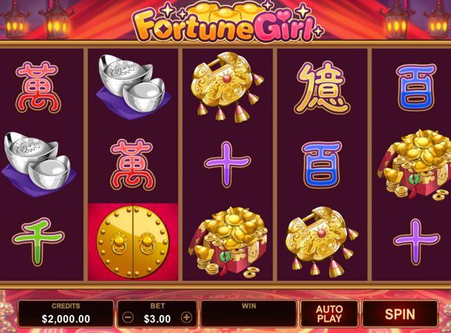 Free Spins at Microgaming Casinos for the New Fortune Girl Slot