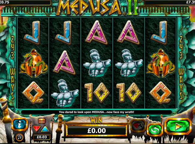 Medusa 2 Slot Review and Bonuses