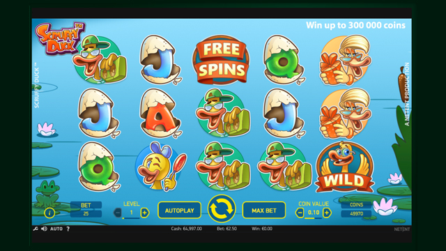 Scruffy Duck Slots by NetEnt:  Review, Bonuses and Recommended Casinos