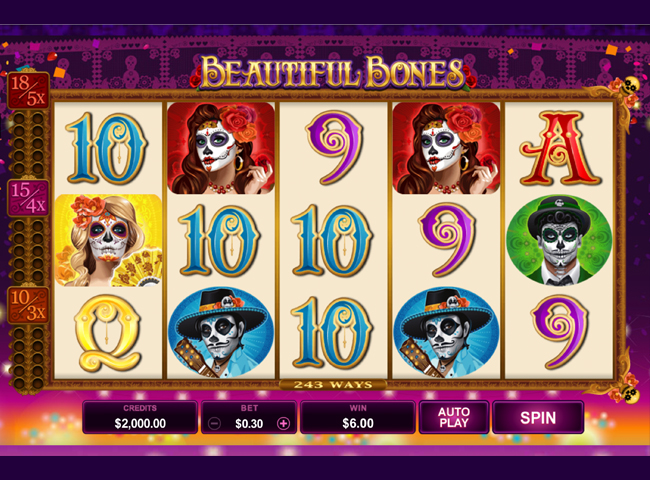 Beautiful Bones Slot by Microgaming Review and Free Slots Bonus