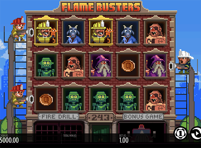 Flame Busters Slot by Thunderkick Review, Bonus and Recommended Casinos