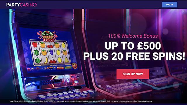 Party Casino Bonus Code 2017