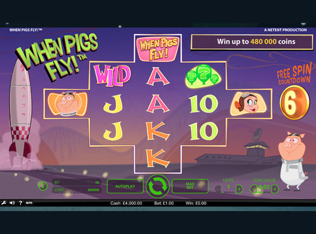 When Pigs Fly Slot by Netent: Review, Bonus and Recommended Casinos