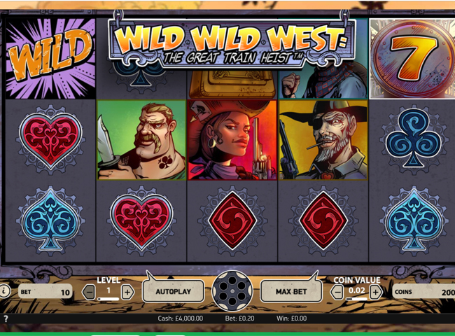 Wild Wild West: The Great Train Heist Slot By NetEnt: Review, Bonuses and Recommended Casinos