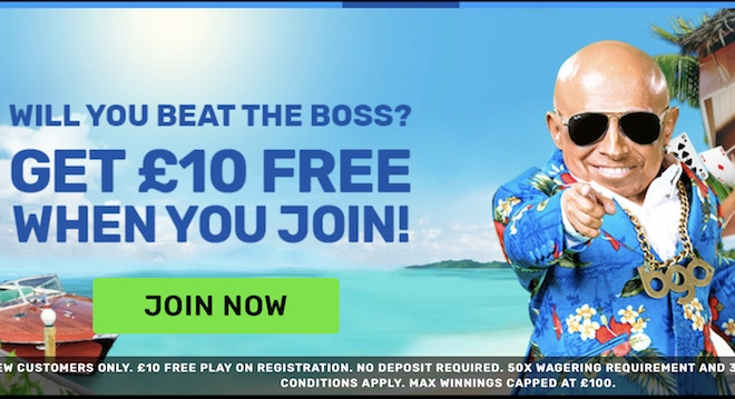 BGO Sign Up Bonus - £10 Freeplay