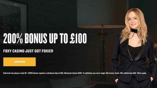 Foxy Casino Promotion Code 2017 - 200% Match Bonus