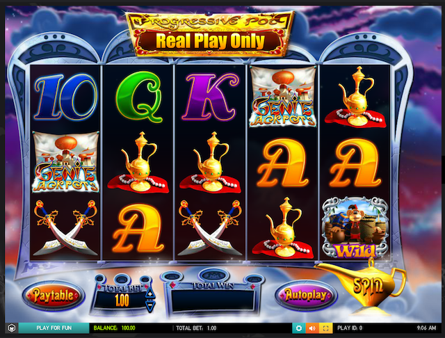 Genie Jackpots Slot by Blueprint Review, Bonus and Recommended Casinos