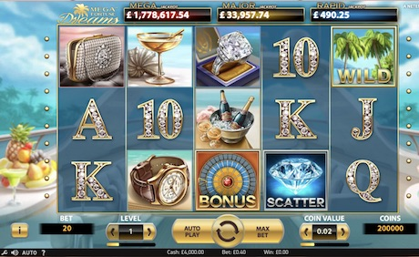 Mega Fortune Dreams Slot by NetEnt