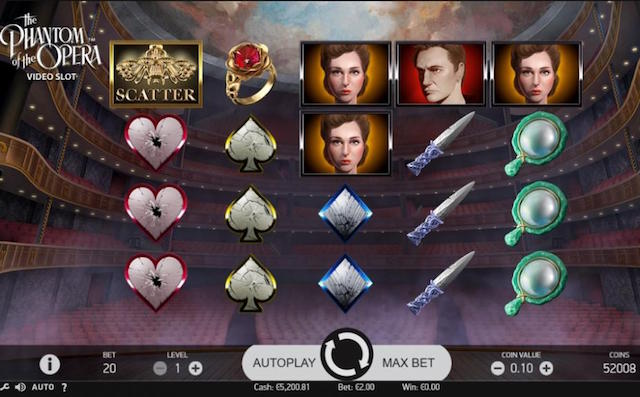 Phantom of the Opera Slot by NetEnt Review, Bonus and Recommended Casinos