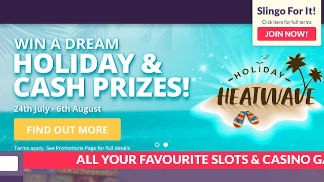 Win a Holiday at Slingo