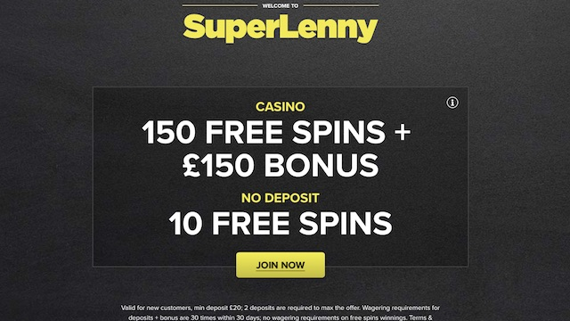Super Lenny - 10 Free Spins No Deposit Mobile Casino