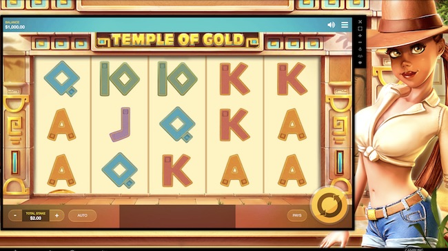 Temple of Gold Slot by Red Tiger Gaming Review, Bonus and Recommended Casinos