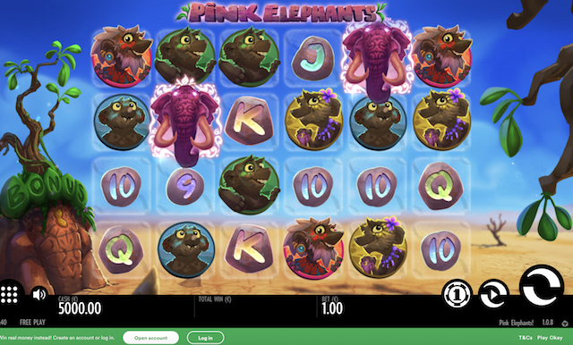 Pink Elephants Slot by Thunderkick Review, Bonus and Recommended Casinos