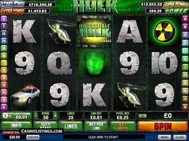 The Incredible Hulk Jackpot by Playtech Review and Bonus