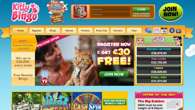 Kitty Bingo sister sites
